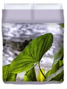 The Leaf Of A Water Plant Duvet Cover