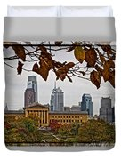 The Leaves Of Philly Duvet Cover