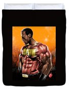 The Legend Of Will Power Duvet Cover by Pete Tapang