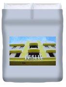 The Leslie Hotel Duvet Cover