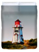 The Light At Covehead Harbour Duvet Cover