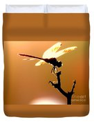 The Light Of Flight Upon The Mosquito Hawk At The Mississippi River In New Orleans Louisiana Duvet Cover