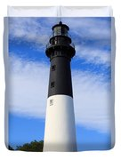 The Lighthouse At Hunting Island State Park In South Carolina Duvet Cover