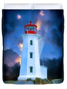 The Lighthouse At Peggys Cove Duvet Cover