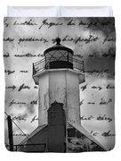 The Lighthouse Poem Duvet Cover