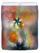 The Lightness Of Being-abstract Art Duvet Cover