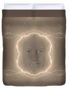The Lightning Man Sepia Duvet Cover