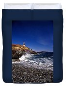 The Ligthouse At West Quoddy Duvet Cover