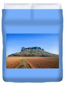 The Lilienstein On An Autumn Morning Duvet Cover