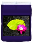 The Lily Pad And Flower... Duvet Cover