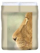 The Lion And The Fly Duvet Cover