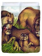The Lion Family Duvet Cover