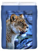 The Lioness Alert Duvet Cover