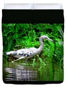 The Little Blue Heron Duvet Cover