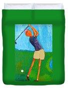 The Little Golfer Duvet Cover