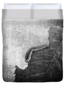 The Little Inchworm - B And W Duvet Cover