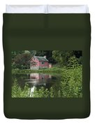 The Little Pink Cabin With Ripples Duvet Cover