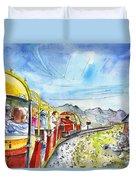 The Little Train Of Artouste Duvet Cover