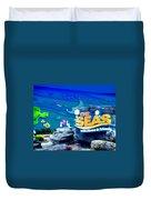 The Living Seas Signage Walt Disney World Duvet Cover