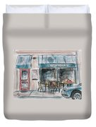 The Local Chat N Chew Duvet Cover by Tim Ross