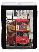 Vintage London Bus Duvet Cover