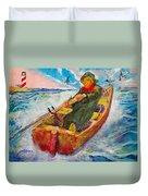 The Lone Boatman Duvet Cover