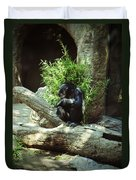 The Lone Chimp Duvet Cover