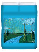 The Long Blue Road Duvet Cover