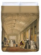 The Long Gallery At Lanhydrock Duvet Cover