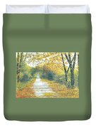 The Long Road Home - Oil Duvet Cover
