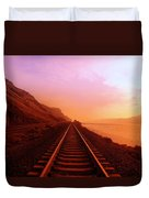 The Long Walk To No Where  Duvet Cover by Jeff Swan