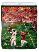 The Longest Yard - Alabama Vs Auburn Football Duvet Cover by Mark Moore