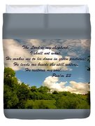 The Lord Is My Shepard Duvet Cover