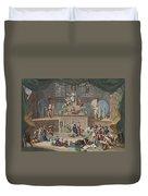 The Lottery, Illustration From Hogarth Duvet Cover