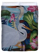 The Lotus Pond Hand Embroidery Duvet Cover