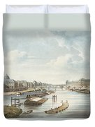 The Louvre, From Views On The Seine Duvet Cover