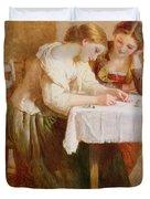 The Love Letter, 1871 Duvet Cover