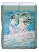 The Lovers And The Bed Duvet Cover