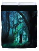The Lovers Cottage By Night Duvet Cover