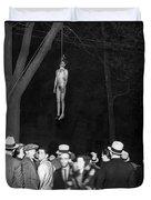 The Lynching Of A Murderer Duvet Cover