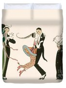 The Madness Of The Day Duvet Cover by Georges Barbier