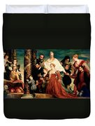 The Madonna Of The Cuccina Family Duvet Cover