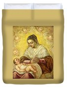 The Madonna Of The Stars Duvet Cover