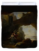 The Magdalen In A Cave Duvet Cover