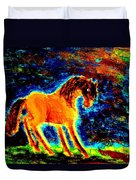 The Magic Horse Will Talk To You But Will You Understand  Duvet Cover