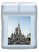 The Magic Kingdom Castle On A Beautiful Summer Day Duvet Cover
