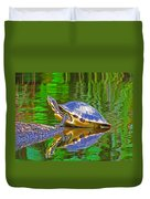 The Magnificence Of Turtle Duvet Cover