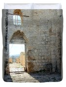 The Main Door To St.george Ruins Duvet Cover