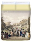 The Main Street In The Bazaar Duvet Cover