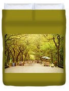 The Mall In Central Park New York City Fall Foliage Duvet Cover